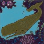 Sperm Whale - Hand Painted Art Tile