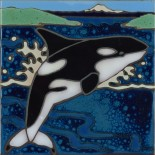 Orca Whale - Hand Painted Art Tile