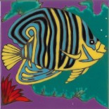 Angel Fish - Hand Painted Art Tile