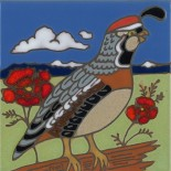 Quail - Hand Painted Art Tile