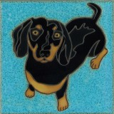 Dachshund - Hand Painted Art Tile