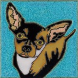 Chihuahua - Hand Painted Art Tile