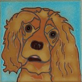 Cocker Spaniel Dog -Hand Painted Ceramic Tile