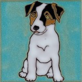 Jack Russell Terrier Dog - Hand Painted tile