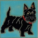 Scottish Terrier - Hand Painted Ceramic Tile