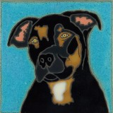Webster Mixed Breed - Hand Painted Art Tile