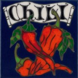 Chili Pepper - Hand Painted Art Tile