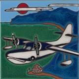 Sea Plane - Grumman Goose - Hand Painted Art Tile