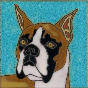 Boxer - Hand Painted Art Tile