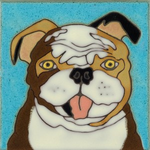 English Bulldog - Hand Painted Art Tile