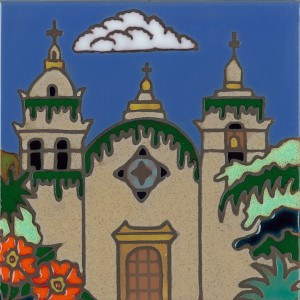 Carmel Mission - Hand Painted Art Tile