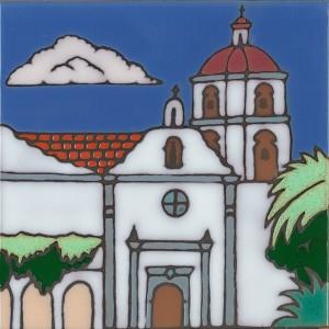 San Luis Rey de Francia Mission - Hand Painted Art Tile