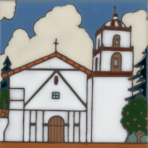 Buena Ventura Mission - Hand Painted Art Tile