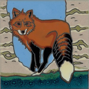 Red Fox- Hand Painted Ceramic Tile