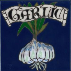 Garlic - Hand Painted Art Tile