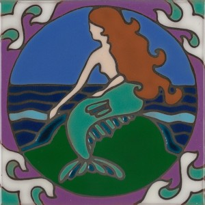 Mermaid - Hand Painted Art Tile