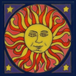 Sun - Hand Painted Art Tile
