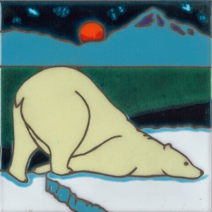 Polar Bear - Hand Painted Art Tile